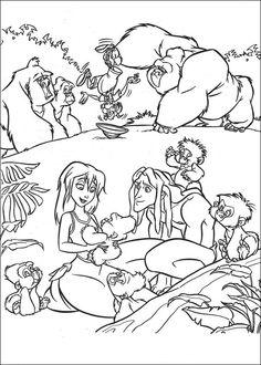 Desenhos para colorir Tarzan 34