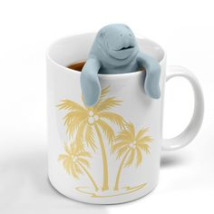 ManaTea Infuser | $4.99 $ALE ($17.47) | A perfect tea-time companion! Just place a pinch of your favorite loose-leaf tea inside his silicone tail and have him perched on his favorite spot at the edge of your cup. The ManaTea may look relaxed but he's actually hard at work making perfectly brewed tea. Made of pure, food grade flexible silicone rubber. Can withstand temperatures of -40°F to 250°F.