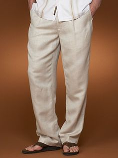 One Pleat Linen Pant