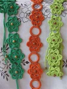 Crochet bracelets or belts