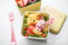 Winnie the Pooh and Piglet bento. SO Cute!