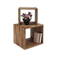 Sada 2 polic z masivního olejového dřeva Kare Design Decor, Furniture, Shelves, Side Table, Floating Nightstand, Floating Shelves, Settings, Table, Home Decor