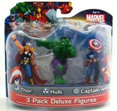 "Marvel 4"" PVC Figures Thor/Captain America/Hulk, 3-Pack by Marvel, http://www.amazon.com/dp/B008VBEGAA/ref=cm_sw_r_pi_dp_WeKPrb0Q6XKDZ"