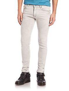 Versace Jeans Skinny Five-Pocket Jeans - Grey - Size 3