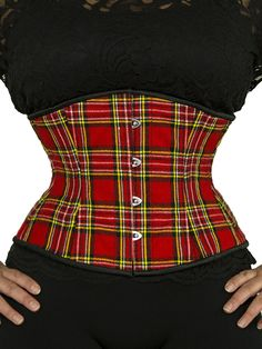 e381f5aeb48 Full Figure sizes available This gorgeous OC underbust corset is made with  high quality red plaid