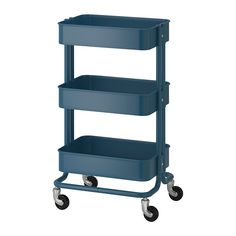 IKEA - RÅSKOG, Utility cart, The sturdy construction and four casters make it easy for you to move the cart and use it wherever you like. It even fits in tight