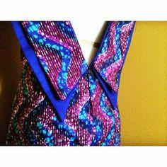 Double Collar Ankara Dress - M6602 Instagram: instagram.com/yetundesarumi