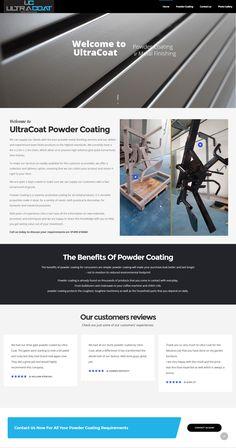 New website for Ultra Coat powder coating Portfolio Web Design, Powder Coating, Website