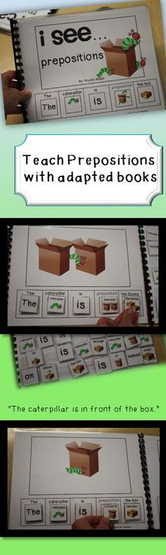 Fun, interactive way to teach prepositions. Perfect for autism/ speech therapy!