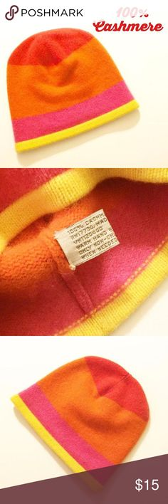 Cashmere Toddler Hat SUPER SOFT 100% CASHMERE TODDLER HAT!  🔶🔷 Worn only a couple of times.  Very pretty hat with bright colors.  WASHED WELL. Accessories