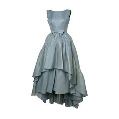 Tumblr ❤ liked on Polyvore featuring dresses, gowns, vestidos and blue