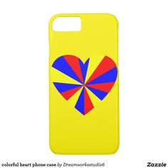 colorful heart phone case