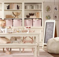 new take on playroom: Madeleine Play Chairs | Play tables & Chairs | Restoration Hardware Baby & Child