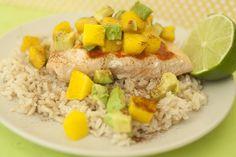 Grilled Salmon with Mango Salsa by Kristen D., Capturing Joy with Kristen Duke #HEBMeals