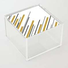Diagonals - Dark Yellow Acrylic Box by laec Jewelry Gifts, Unique Jewelry, Good Advice For Life, Storage Places, Acrylic Box, Dark, Yellow, Store, Stuff To Buy
