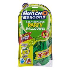 Innovative self-sealing balloons toy. Fill air and water balloons in seconds! Buncho Balloons, Balloon Toys, Helium Tank, New Inventions, Pesto Chicken, Natural Latex, Pumps, Fill, Join