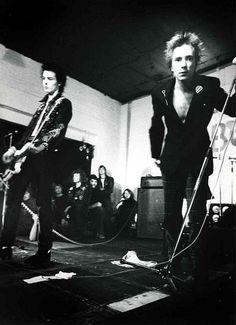 The sex pistols performing at De Stokvishal, Arnhem, Netherlands, December 8th, 1977.