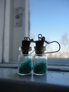 Look what post brought today! :) Makeedesign's new bottle earrings!