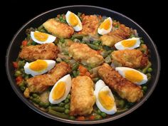Chicken Salad Recipes, Fish Recipes, Healthy Recipes, Tapas, Spanish Dishes, Small Meals, Food Decoration, Kitchen Dishes, Fish Dishes