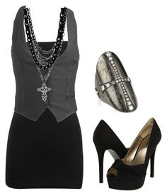 """""""Untitled #81"""" by bvb3666 ❤ liked on Polyvore. without the cross tho Im worried that might be offensive"""