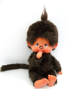 Vintage Monchhichi Monkey Doll- I always wanted one of these when I was young. So cute. Monkey Doll, Childhood Days, Doll Stands, Retro Toys, Sweet Memories, Old Toys, Vintage Love, Little Ones, Cute
