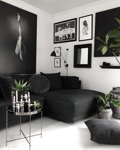 ⓔ Design Inspiration Black Sofa Living Room, Living Room Furniture, Decor Room, Living Room Decor, Home Decor, Black Sofa Decor, Best Online Furniture Stores, Furniture Shopping, Affordable Furniture