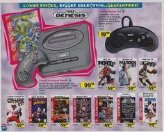 "Sega Genesis Toys ""R"" Us catalog 1996 Vintage Videos, Vintage Video Games, Classic Video Games, Retro Videos, Toys R Us Christmas, Playstation, Street Fighter Game, Console, Sega Cd"