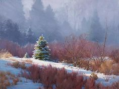 Morning Mist.  Nedra Matteucci Galleries - Dawn to Dusk: The Landscapes of Chris Morel