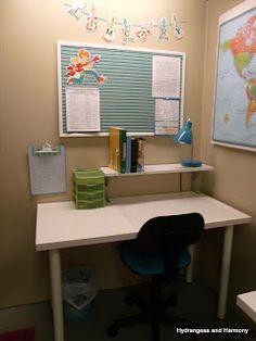 Hydrangeas and Harmony: Homeschool Room Updated