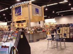 The Hal Leonard 2015 NAMM booth.