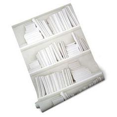 ruby beets white bookshelf wallpaper