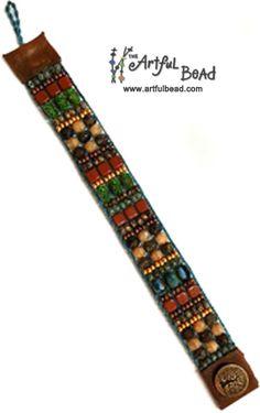 Loomed Bracelet www.artfulbead.com $30.00 #jewelrymakingclasses