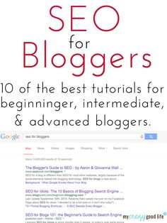 SEO tutorials for bloggers
