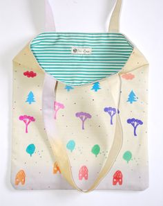 tote bag hand stamped