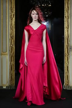 Every dress I own from now on... must have a cape. Alexis Mabille Couture Spring Summer 2015 Paris