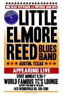 Little Elmore Reed Austin Texas Blues Poster