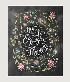 The Earth Laughs in Flowers Spring Decor Flower by LilyandVal
