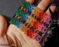 Russian Master Class for Rainbow bracelet.  Needs translation but detailed pix. ~ Seed Bead Tutorials