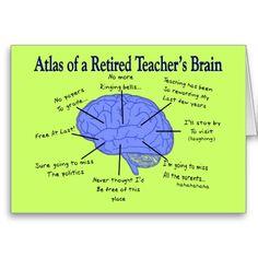 Atlas of a Retired Teacher's Brain Gfits Card Atlas der Brain Gfits-Karte eines Lehrers im Ruhestand Teacher Retirement Parties, Funny Retirement Gifts, Retirement Quotes, Retirement Cards, Retirement Ideas, Retirement Invitations, Retirement Celebration, Happy Retirement, Education Quotes For Teachers