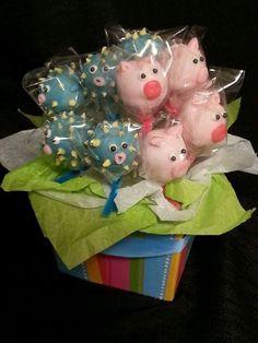 Pig & Blow fish cake pops