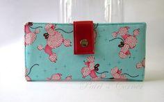 Handmade women's wallet My flirty pink poodle   id by PatrisCorner