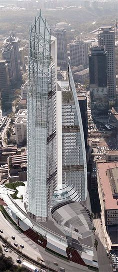 Diamond of Istanbul, Maslak, Istanbul, Turkey by Dome Architecture :: 53 floors, height 270m