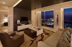 This is from the new Ritz-Carlton Residence apartments in Israel (Hertzlia). Geared towards the visitor-crowds, or investors in vacation residence.