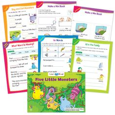Five Little Monsters Went To School Ebook & Worksheets – Creative Teaching Press Learn To Read Books, Improve Reading Comprehension, Nouns And Pronouns, Monster Go, Birthday Charts, Creative Teaching Press, Spelling Patterns, Math Work, Five Little