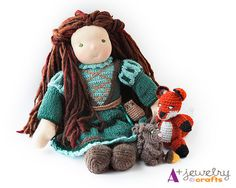 Waldorf doll clothes Princess doll clothes by APlusJewelryCrafts, $46.00