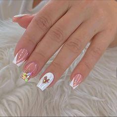 Nail Art Designs Videos, Nail Designs, Gorgeous Nails, Pretty Nails, Graduation Nails, Classic Nails, Fall Acrylic Nails, Girls Nails, Manicure E Pedicure