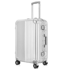 High-Capacity Hardside Aluminum Frame Luggage with 2 TSA Locks, Suitcase with Great Intensity, Silver >>> Continue to the product at the image link. (This is an affiliate link) Handbags For Men, Luggage Cover, Suitcases, Baggage, Classy Outfits, Locks, Image Link, Cosplay