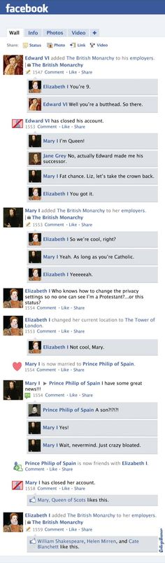 Facebook News Feed History of the World: Protestant Reformation Through Queen Elizabeth I (Page 3) - CollegeHumor Post