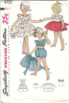 Original 1950s Vintage Simplicity Printed by RosePetalResources, $4.00
