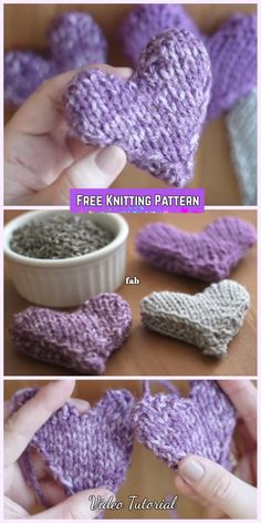 How to Knit a Heart Shape Puffy Heart Softies Free Pattern Video tutorial